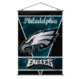 Philadelphia Eagles Wall Banner w/ Hanger String NFL Team Logo