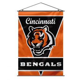 Cincinnati Bengals Wall Banner NFL Team Logo Orange & Black