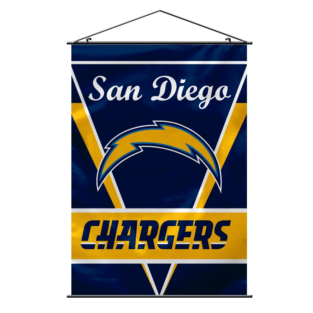 San Diego Chargers Wall Banner W Hanger String Nfl Team Logo