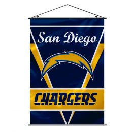 San Diego Chargers Wall Banner w/ Hanger String NFL Team Logo