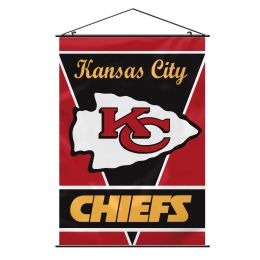 Kansas City Chiefs Wall Banner w/ Hanger String NFL Team Logo