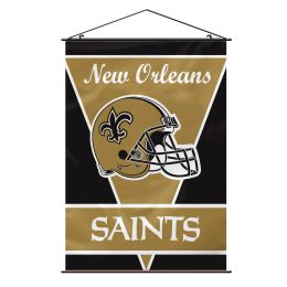 New Orleans Saints Wall Banner NFL Logo Black & Gold