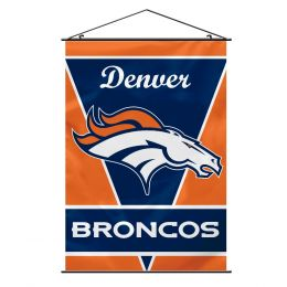 Denver Broncos Wall Banner NFL Team Logo Blue & Orange