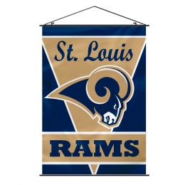 St. Louis Rams Wall Banner NFL Team Logo Blue & Gold