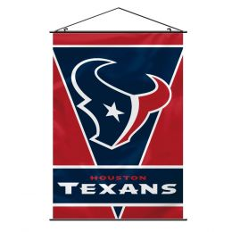 Houston Texans Wall Banner NFL Team Logo Red & Blue