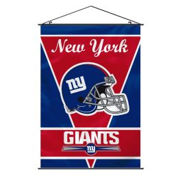 New York Giants Wall Banner w/ Hanger String NFL Red & Blue