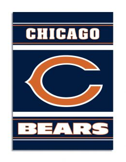 Chicago Bears NFL Team Logo 2-Sided 28 X 40 House Banner