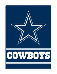 Dallas Cowboys NFL Logo 2-Sided 28 X 40 House Banner