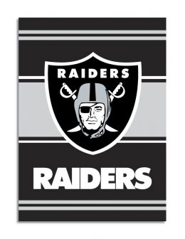 Oakland Raiders 2-Sided 28 X 40 House Banner Black & Silver