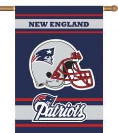 New England Patriots 2-Sided 28 X 40 House Banner NFL Logo