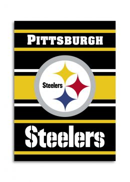 Pittsburgh Steelers 2-Sided 28 X 40 House Banner NFL Team Logo