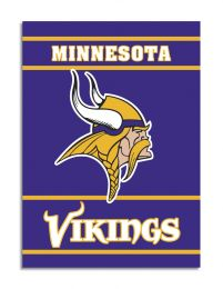 Minnesota Vikings NFL Team Logo 2-Sided 28 X 40 House Banner