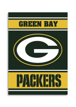 Green Bay Packers NFL Team Logo 2-Sided 28 X 40 House Banner