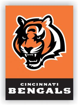Cincinnati Bengals NFL Team Logo 2-Sided 28 X 40 House Banner