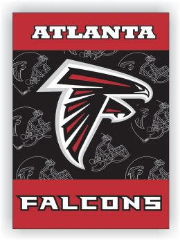 Atlanta Falcons NFL Logo 2-Sided 28 X 40 Polyester House Banner
