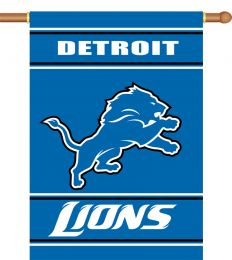 Detroit Lions 2-Sided 28 X 40 House Banner NFL Team Logo