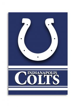 Indianapolis Colts NFL Team Logo 2-Sided 28 X 40 House Banner