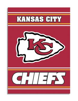Kansas City Chiefs 2-Sided 28 X 40 House Banner NFL Team Logo