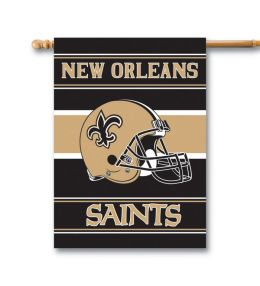 New Orleans Saints NFL Team Logo 2-Sided 28 X 40 House Banner