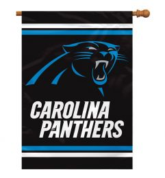 Carolina Panthers 2-Sided 28 X 40 House Banner NFL Team Logo