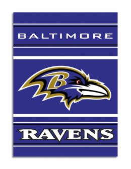 Baltimore Ravens NFL Team Logo 2-Sided 28 X 40 House Banner