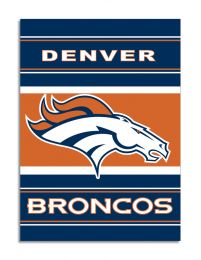 Denver Broncos 2-Sided 28 X 40 House Banner NFL Team Logo