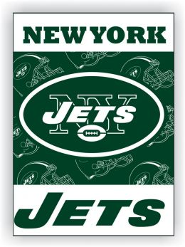 New York Jets 2-Sided 28 X 40 House Banner Team Logo NFL