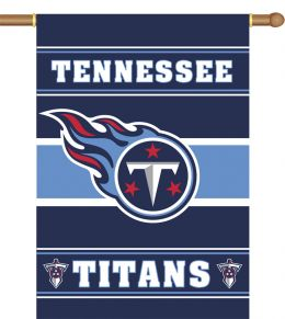Tennessee Titans NFL Team Logo 2-Sided 28 X 40 House Banner
