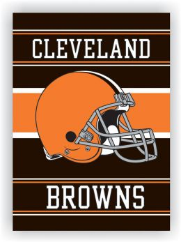 Cleveland Browns NFL Team Logo 2-Sided 28 X 40 House Banner