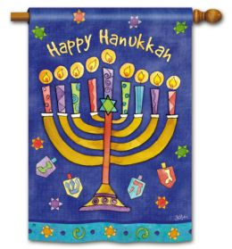 Happy Hanukkah Holiday Seasonal Standard House Flag