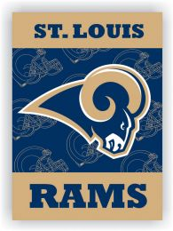 St. Louis Rams 2-Sided 28 X 40 House Banner Blue & Gold Team Logo