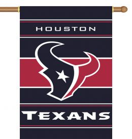 Houston Texans NFL Team Logo 2-Sided 28 X 40 House Banner