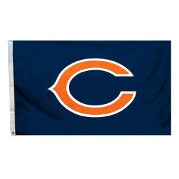 Chicago Bears 3' x 5' Flag w/Grommetts NFL Logo Blue & Orange