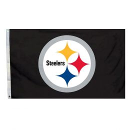 Pittsburgh Steelers NFL Logo 3' x 5' Flag w/Grommetts