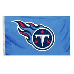 Tennessee Titans NFL Logo 3' x 5' Flag w/Grommetts Blue Red & White