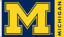 Michigan Wolverines 3' x 5' Flag w/Grommets College Team Logo