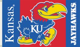 Kansas Jayhawks College Team Logo 3' x 5' Flag w/Grommets