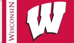 Wisconsin Badgers 3' x 5' College Team Logo Flag w/Grommets