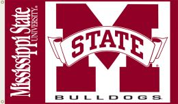 Mississippi State Bulldogs NCAA Logo 3' x 5' Flag w/Grommets