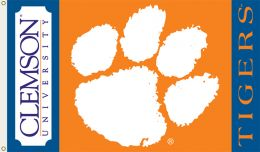 Clemson Tigers 3' x 5' Flag w/Grommets College Team Logo
