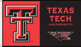 Texas Tech Red Raiders NCAA Team Logo 3' x 5' Flag w/Grommets