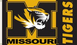 Missouri Tigers 3' x 5' Flag w/Grommets NCAA Team Logo