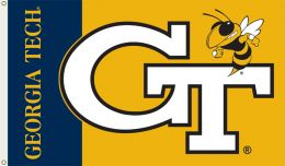 Georgia Tech Yellow Jackets 3' x 5' Flag w/Grommets NCAA Logo
