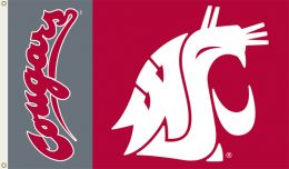 Washington State Cougars College Team Logo 3' x 5' Flag w/Grommets