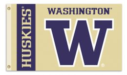 Washington Huskies  College Team Logo 3' x 5' Flag w/Grommets