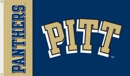 Pittsburgh Panthers 3' x 5' Flag w/Grommets College Team Logo