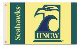 Unc Wilmington 3' x 5' Flag w/Grommets NCAA Team Logo