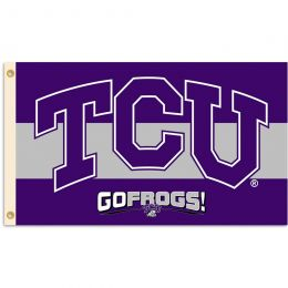 Texas Christian Horned Frogs 3' x 5' Flag w/Grommets College Team Logo