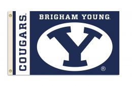 Brigham Young Cougars 3' x 5' Flag w/Grommets College Team Logo