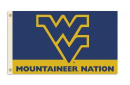 West Virginia Mountaineers NCAA Logo 3' x 5' Flag w/Grommets